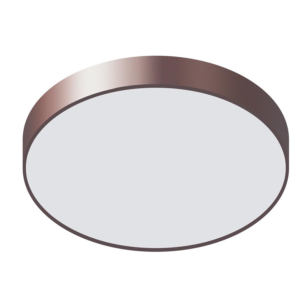 Nowoczesny Brązowy Plafon Orbital LED