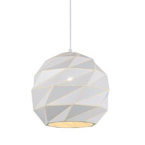 Biała Lampa Wisząca Palermo E27 small 0