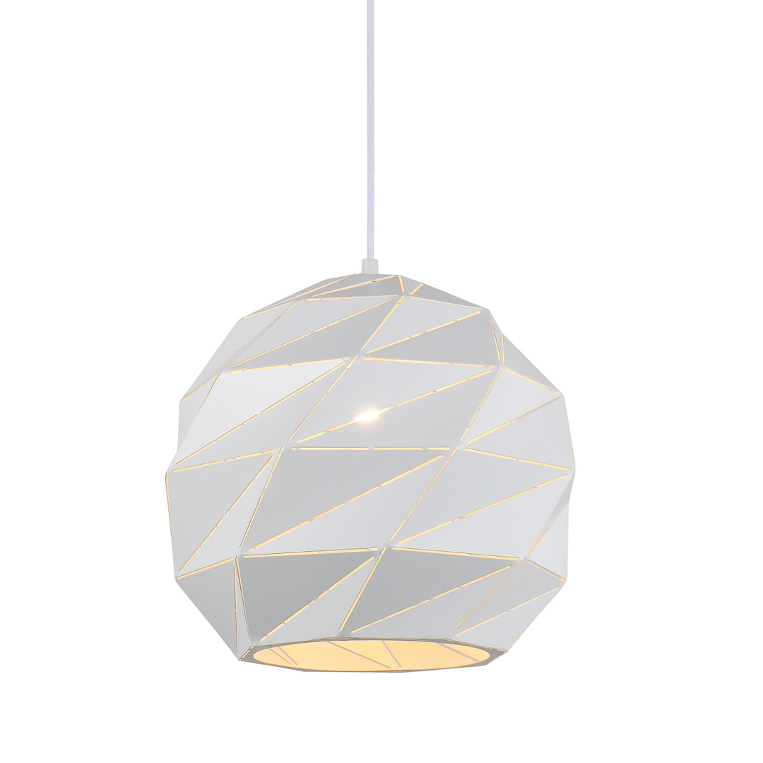 Biała Lampa Wisząca Palermo E27