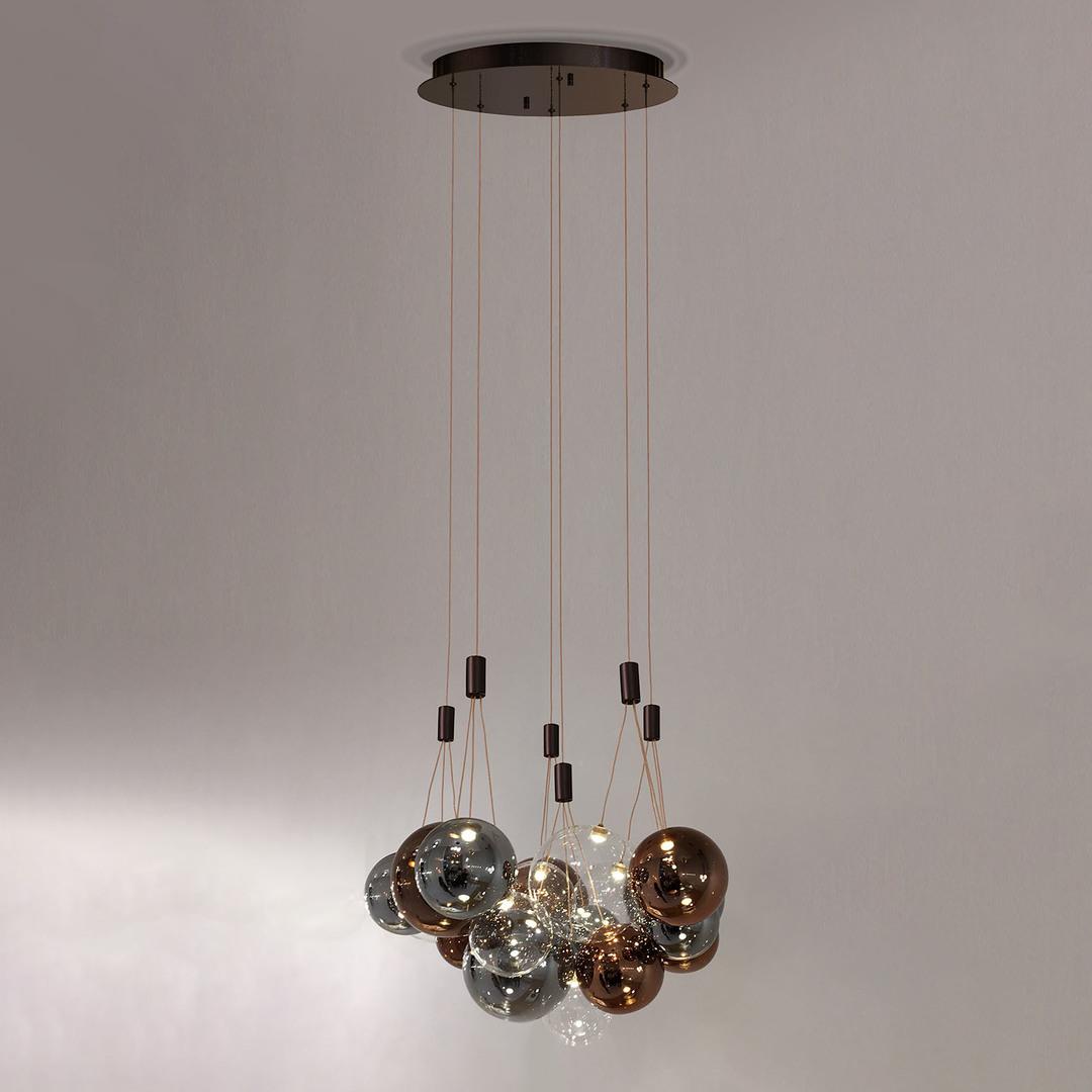 Brązowa Lampa Wisząca Praleria LED