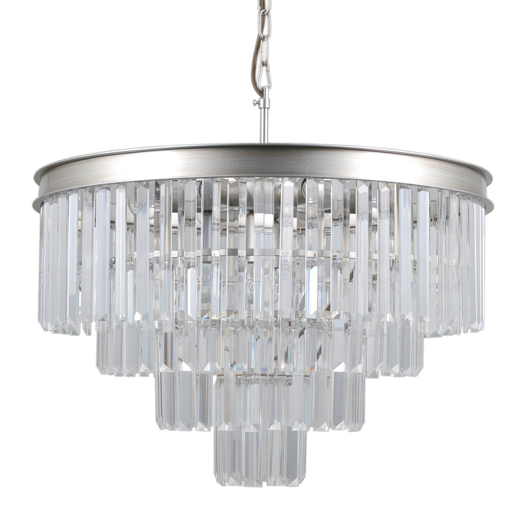 Srebrna Lampa Wisząca Verdes E14 8-punktowa
