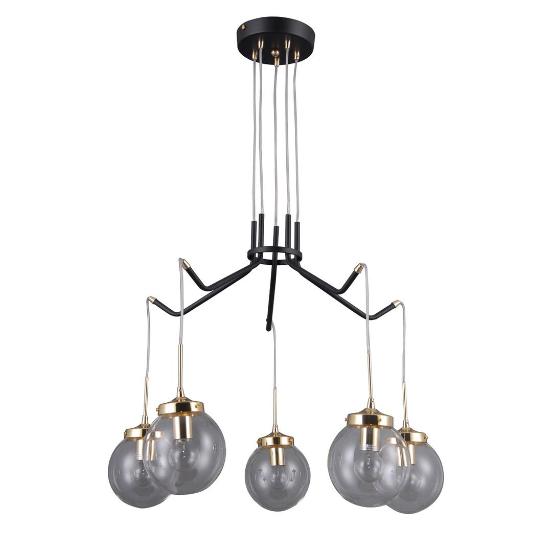 Czarna Lampa Wisząca Domenico E14 5-punktowa