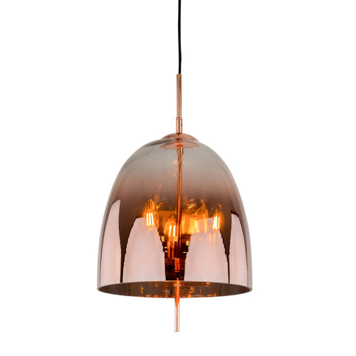 Miedziana Lampa Wisząca Alan E14 3-punktowa