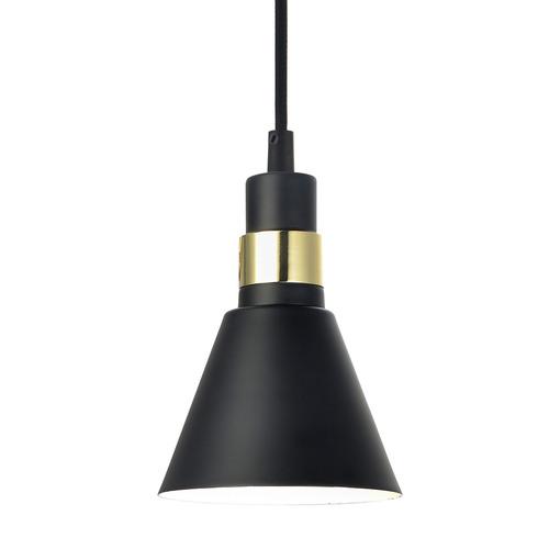 Czarna Lampa Wisząca Biagio E14