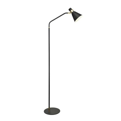 Czarna Lampa Stojąca Biagio E14