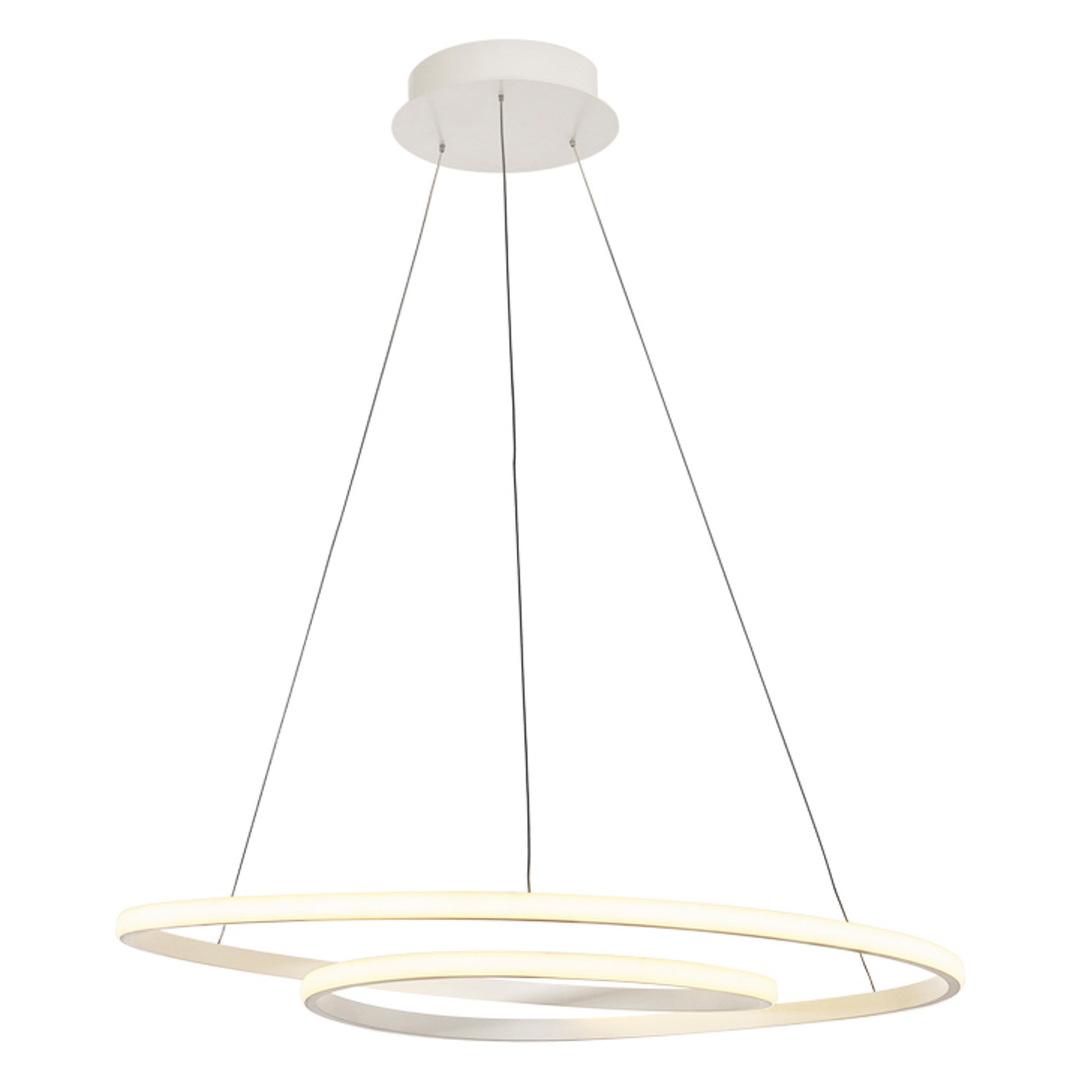 Biała Lampa Wisząca Capita LED