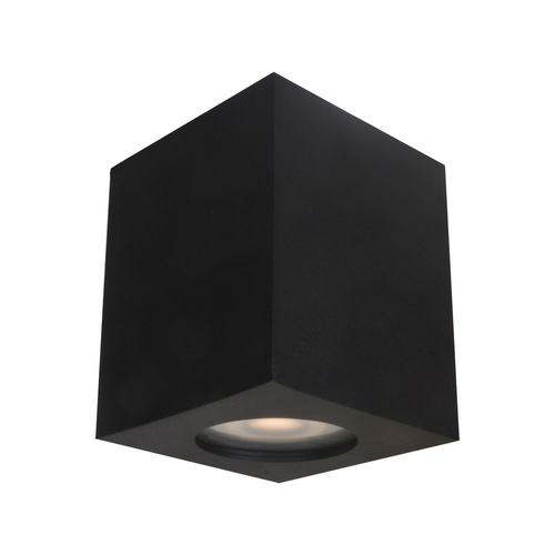 Czarna Lampa Natynkowa Fabrycio IP44 GU10