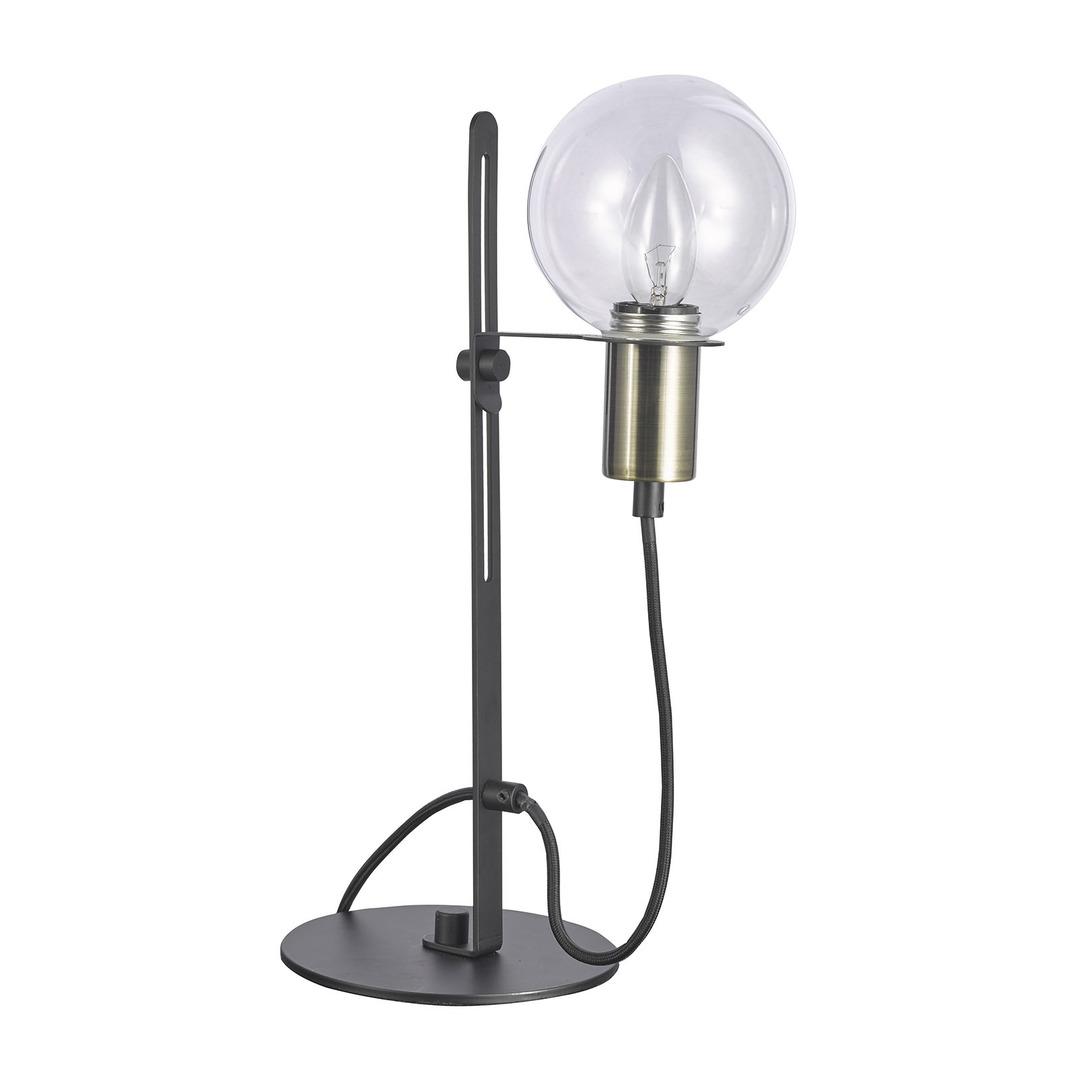 Brązowa Lampka na biurko Gianni E14
