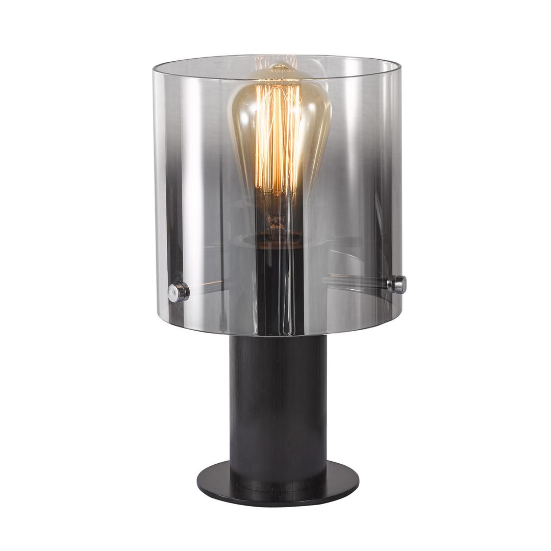 Czarna Lampka na biurko Javier E27