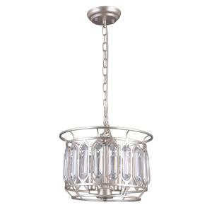 Srebrna Lampa Wisząca Priscilla E14 3-punktowa small 1