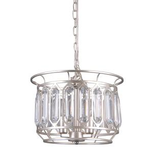 Srebrna Lampa Wisząca Priscilla E14 3-punktowa small 0