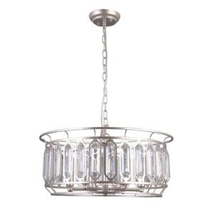 Srebrna Lampa Wisząca Priscilla E14 6-punktowa small 1