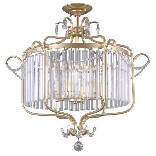 Klasyczna Lampa Sufitowa z Kryształkami Rinaldo E14 6-punktowa