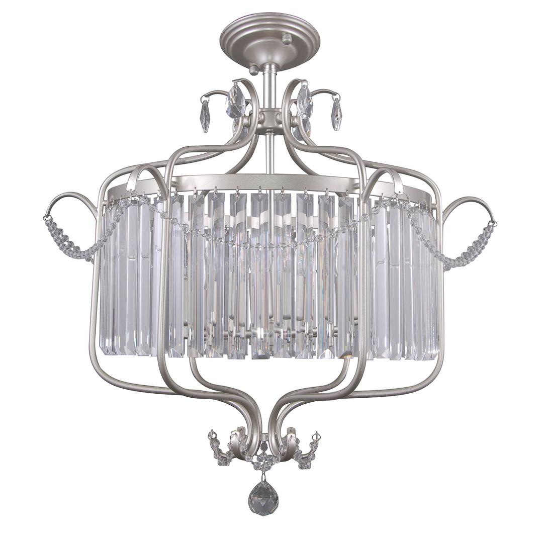 Klasyczna Lampa Wisząca z Kryształkami Rinaldo E14 6-punktowa