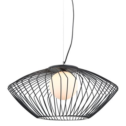 Czarna Lampa Wisząca Zeno E27