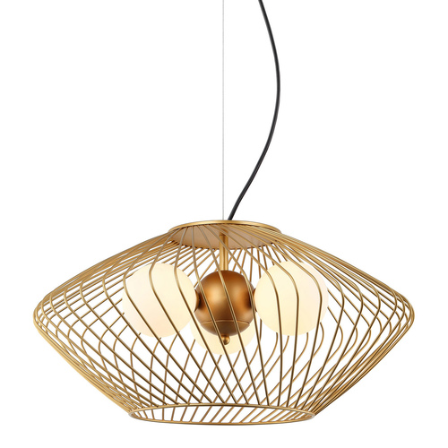 Złota Lampa Wisząca Zeno G9 3-punktowa