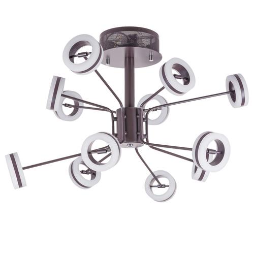 Brązowy Nowoczesny Plafon Metis LED