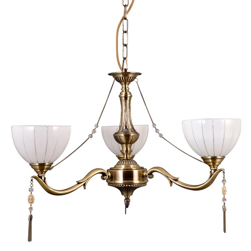 Stylizowany Złoty Żyrandol Baxio E27 3-punktowy