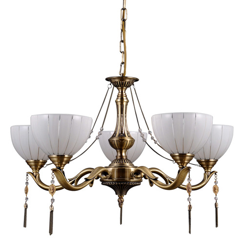 Złoty Stylizowany Żyrandol Baxio E27 5-punktowy