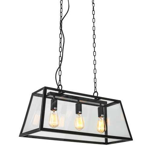 Czarna Lampa Wisząca Laverno E27 3-punktowa