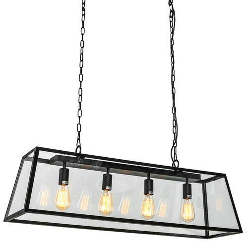 Czarna Lampa Wisząca Laverno E27 4-punktowa