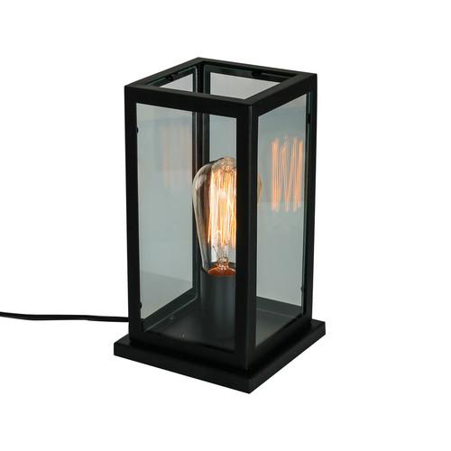 Czarna Lampka na biurko Laverno E27