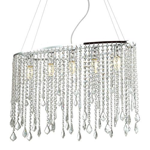 Klasyczna Lampa Wisząca z Kryształkami Kaas E14 5-punktowa