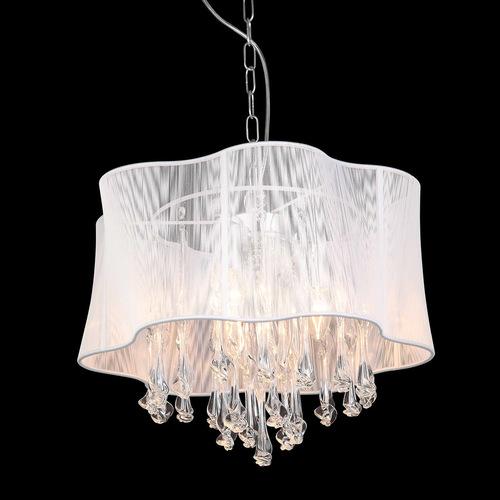 Biała Lampa Wisząca Cali E14 3-punktowa