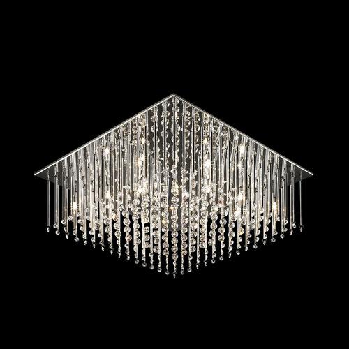 Klasyczny Plafon z Kryształkami Angel G4 12-punktowy