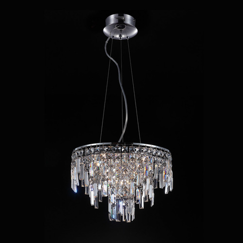 Klasyczna Lampa Wisząca z Kryształkami Lavenda G4 10-punktowa
