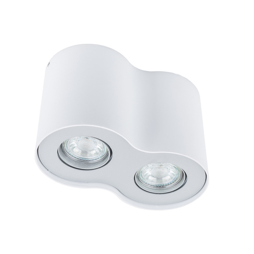 Biała Lampa Natynkowa Shannon GU10 2-punktowa