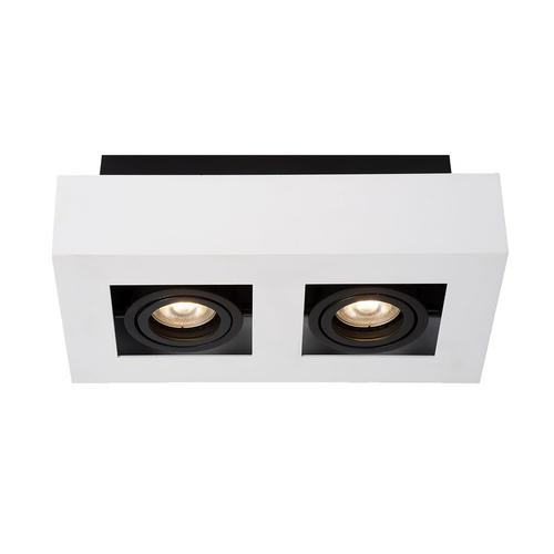 Biała Lampa Natynkowa Casemiro GU10 2-punktowa