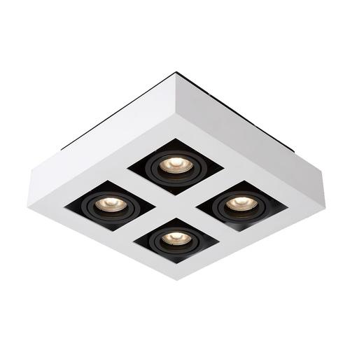 Biała Lampa Natynkowa Casemiro GU10 4-punktowa