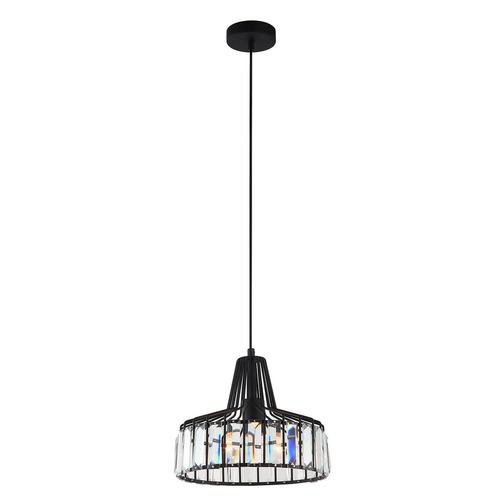 Czarna Lampa Wisząca Manzo E27