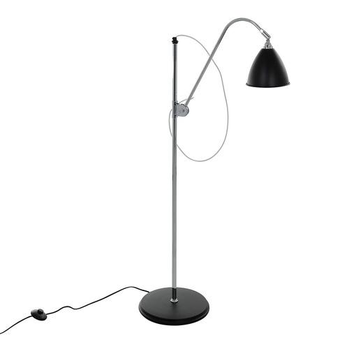 Czarna Lampa Stojąca Evato E14