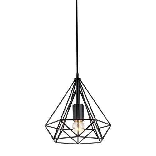 Czarna Lampa Wisząca Natal E27