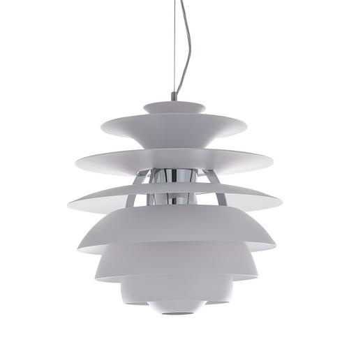 Biała Lampa Wisząca Wes E27