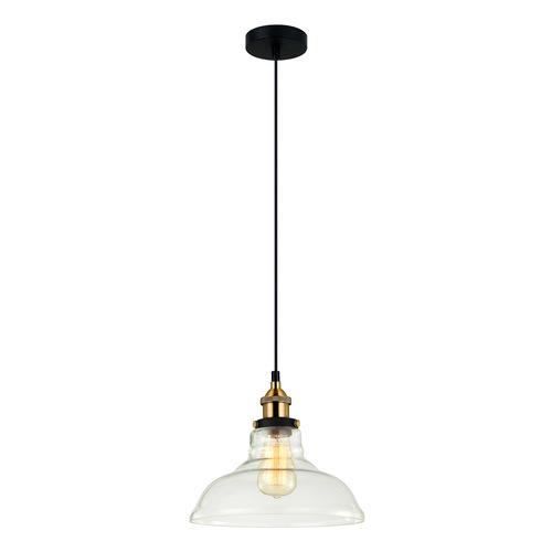 Czarna Lampa Wisząca Hubert E27