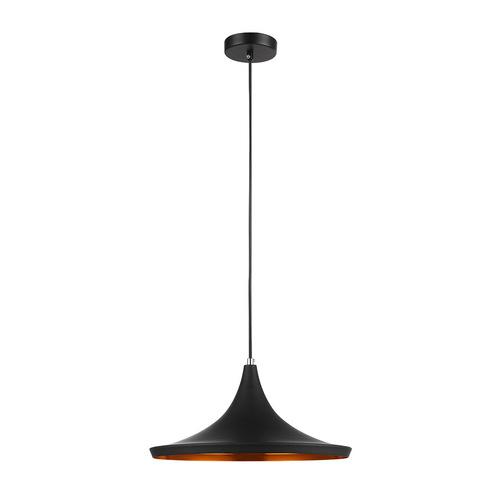 Czarna Lampa Wisząca Pedro E27