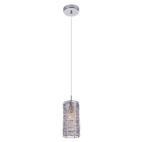 Srebrna Lampa Wisząca Linton E14