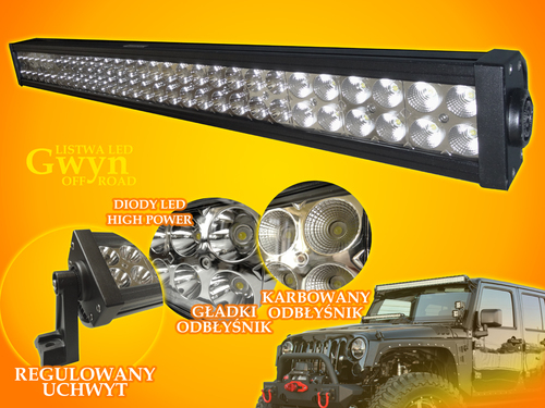 Listwa LED Gwyn 180W CW Off Road 12V-24V