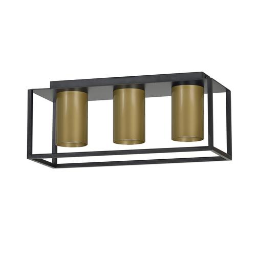 LAMPA SUFITOWA  TIPER 3 BLACK / GOLD