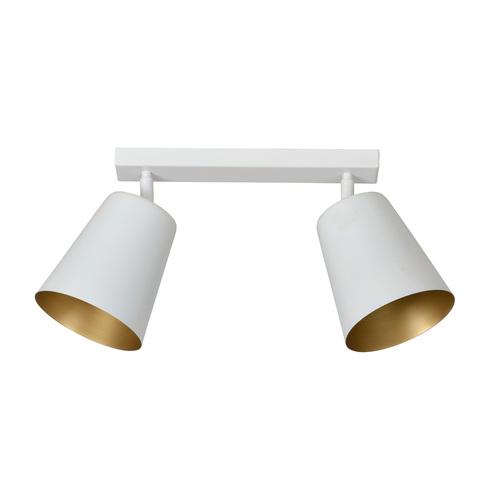 Plafon PRISM 2 biały/złoty