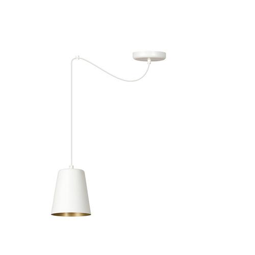 LAMPA WISZĄCA LINK 1 WHITE / GOLD