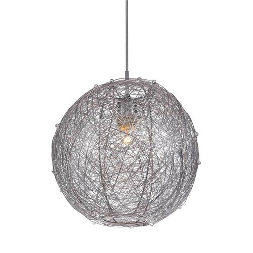 Srebrna Lampa Wisząca Ness E27