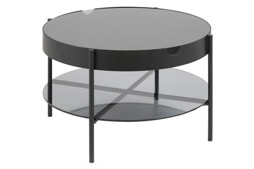 ACTONA stolik szklany TIPTON L czarny - szkło, metal
