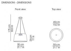 Lampa wisząca Kundalini Tripod Ecru 3x100W E27 small 3