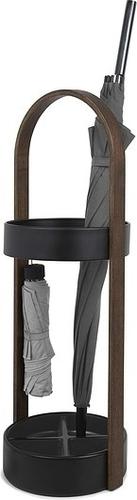 UMBRA stojak na parasolki HUB czarny - drewno, metal