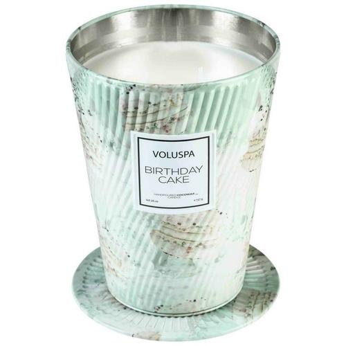 VOLUSPA świeca BIRTHDAY CAKE GIANT 737G - wosk kokosowy , dwa knoty