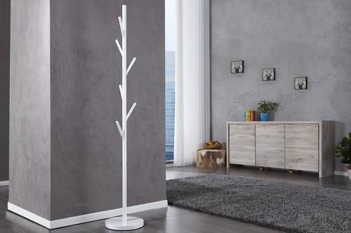 Wieszak stojący TREE biały - metal